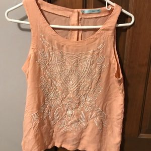 Maurices Salmon/Peach Patterned Tank